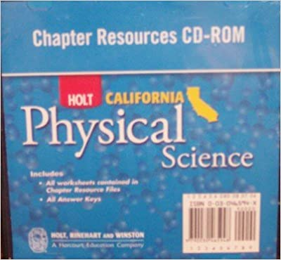 Amazon.com: Holt Science & Technology California: Chapter Resource ...