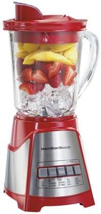 Hamilton Beach 58147 Batidora de vaso 700W Rojo, Acero inoxidable, Transparente - Licuadora (Batidora de vaso, Rojo, Acero inoxidable, Transparente, Vidrio, Acero inoxidable, Acero inoxidable, 700 W): Amazon.es: Hogar