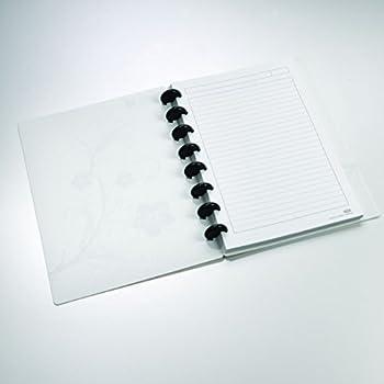 "Staples Arc Customizable Hibiscus Design Notebook System, White & Black, 6-3/8"" x 8-3/4"""
