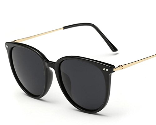 ZHLONG Damen polarisiert Sonnenbrille klassische Runde Sonnenbrille mit Rahmen , 1