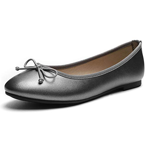 Footwear Womens Flat - CINAK Women Ballet Flats- Casual Slip-on Comfort Walking Round Toe Loafers Shoes Sliver
