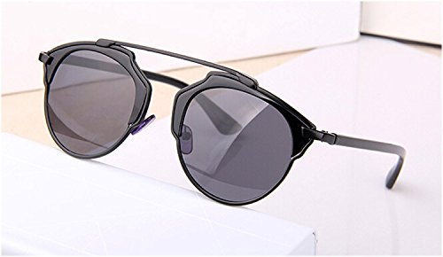 Envolver Runde Frauen Sommer De Modo Plata Markendesigner Sombras Gris Metall Lente Cat Cool Brille completo KLXEB Negro Sonnenbrille Sonnenbrille Eye pIwCqxS5