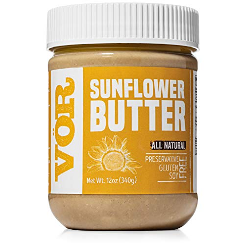 Vör All Natural Sunflower Seed Butter (12oz) | Only One Ingredient | No Sugar, No Salt | Vegan, Paleo, Keto, Whole 30