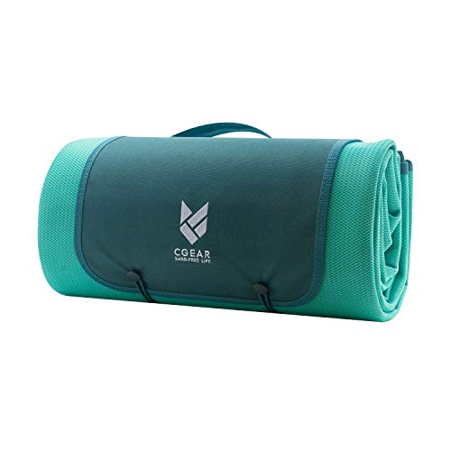 CGEAR Sandlite - Patented Sand-Free Beach Mat - Multi Use Outdoor Camping Mat, Picnic Blanket, Exercise Stretching Mat - Rollup Compact - Also Great for Families and Equipment Protection