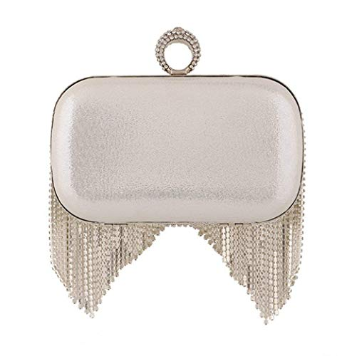 Allcode Hand misura Mindruer Banquet Argento e Wallet colore Evening oro America Hand Europa Beads Bag With Bridal qS41WSZwU