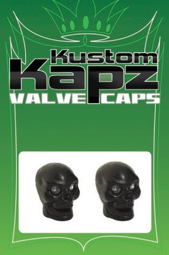 KUSTOM KAPZ BLACK SKULL VALVE CAP wheel tire stem harley dirt bike bmx custom fx