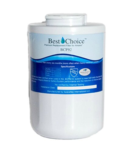 Amana 12527304 Compatible By Best Choice Water Filters Certified Refrigerator Replacement Cartridge WF401P Clean N Clear Kenmore 46 9014 469014 WF40 (12527304 Amana Water Filter)