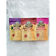 Sisters Fruit Company, TRIO, Apple Chips, All Natural, Gluten-Free, Fat-Free Contains THREE 2.25 OZ BAGS