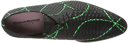 Floris van Bommel 14385/00, Zapatos de Cordones Derby para Hombre Verde - Grün (Green Snake)