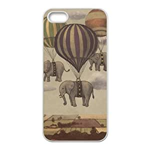 Elephant Design Personalized Durable Hard Plastic Case Cover LUQ289788 For Iphone 5,5S