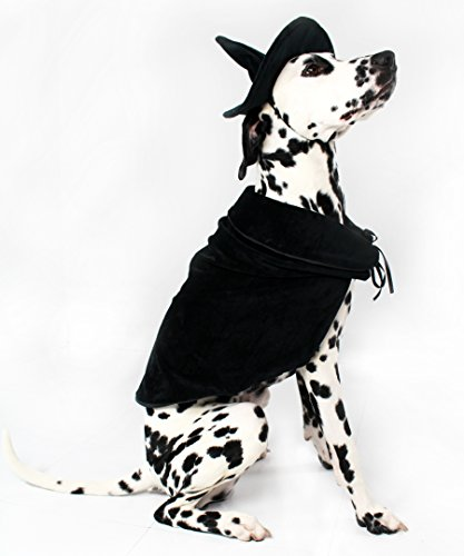 Halloween Witch Cape and Hat Dog Costume by Midlee (XXX-Large)
