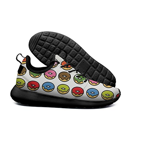 HASIDHDNAC Rainbow Donuts Love Doughnuts White Jogging Work Shoes Men's Lightweight Sport Running Sneaker