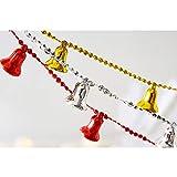 Vpang Christmas Bells Pearls Beads String Garland