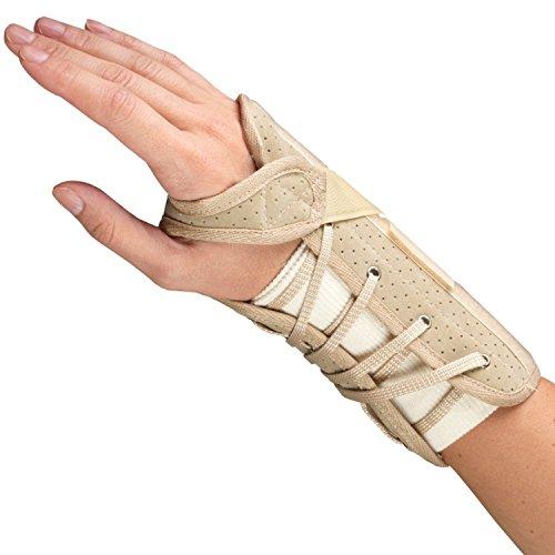 (OTC Wrist Brace, Soft-Fit, Suede Finish, Medium (Right Hand))