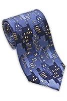 Josh Bach Men's City Lights Silk Necktie, Made in USA
