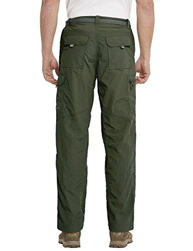 Baleaf Men's Quick Dry UPF 50+ Cargo Camo Pants Army Green 34W by Baleaf (Image #2)