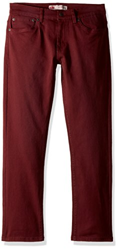 Levi's Boys' Big 511 Slim Fit Jeans, Red Mahogany, 12