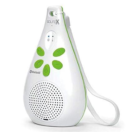 Bluetooth Shower Speaker SoundX SMI438BTX Wet Slim Bluetooth Waterproof  Shower Speaker + Built-in Microphone + Strap