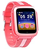 DanCoTek Smart Watch with Learning Games 2G GSM Phone Call 1.54 Inch Touchscreen Camera for Kids (Rosy)
