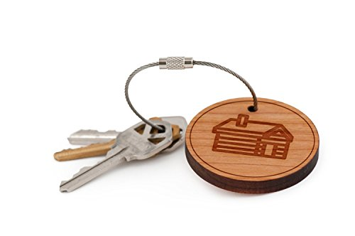 Key Log (Log Cabin Keychain, Wood Twist Cable Keychain - Small)