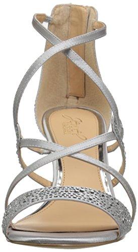 Mischka Jewel Women's Sandal Silver II Badgley Wedge Ally R6wg641x
