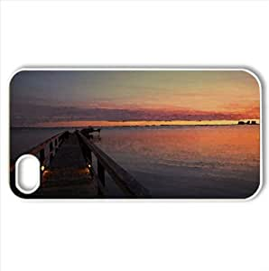 Dock After Sunset Watercolor style Cover iPhone 4 and 4S Case (Sun & Sky Watercolor style Cover iPhone 4 and 4S Case)