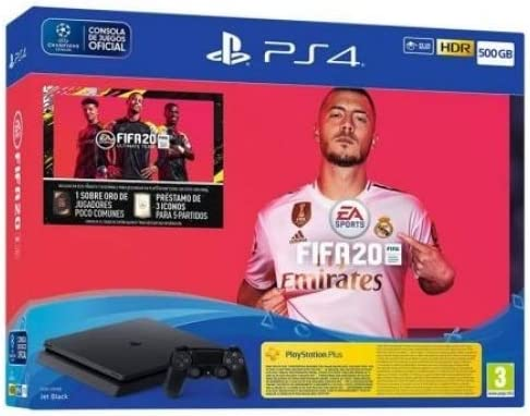 Consola Sony Playstation 4 Slim 500Gb + Juego Fifa 2020: Sony ...