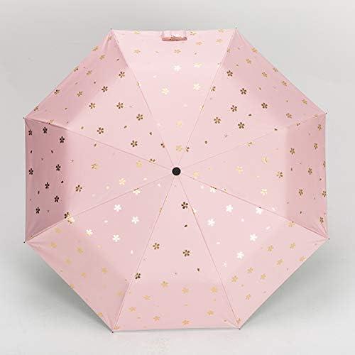 jyxjjkk UV保護傘,太陽傘折り畳み傘 ピンク 110