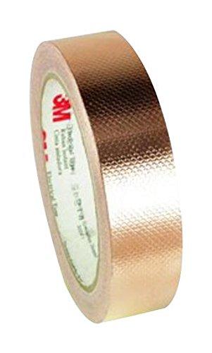 3M 1245-3/4 inch X18YD Tape, Pressure Sensitive Adhesive, Insulating, Copper Foil, 19.05 mm, 0.75 inch, 16.46 m, 18 Yard