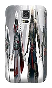 Air cushioned bumper tpu case with scratch resistant clear back panel for Samsung Galaxy s5 of Assassin's Creed in Fashion E-Mall