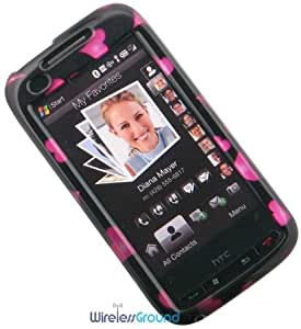HTC Touch Pro2 (Verizon Wireless) Phone Protector Case with Optional Belt Clip - Raining Hearts
