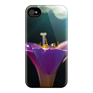 Ideal OrangeColor Case Cover For Iphone 4/4s(purple Lily), Protective Stylish Case