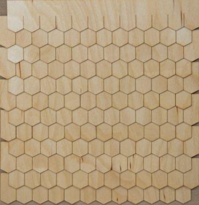 Miniature Dollhouse Shingle Strips Hexagon Style