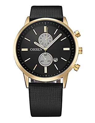 AGENTX Men's Business Casual Simplistic Analog Quartz Wrist Watch
