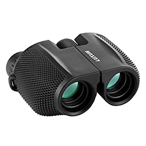 Compact Binoculars, SGODDE 10x25 Waterproof Binocular - Large Eyepiece ,Super High Powered Field , Weak Light Night Vision Prism Binoculars for Bird Watching Outdoor Shooting Travelling