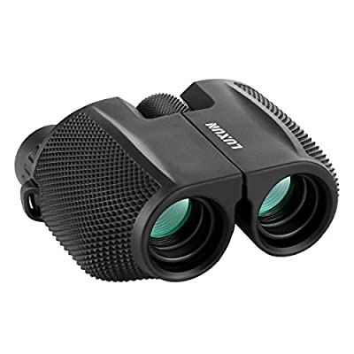 Compact Binoculars, SGODDE 10x25 Waterproof Binocular - Large Eyepiece ,Super High Powered Field , Weak Light Night Vision Prism Binoculars for Bird Watching Outdoor Shooting Travelling