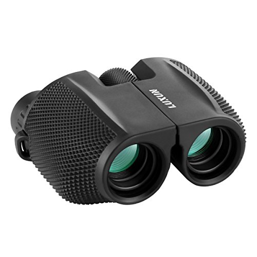 Compact Binoculars, SGODDE 10x25 Waterproof Binocular - Large Eyepiece,Super High Powered Field, Weak Light Night Vision Prism Binoculars for Bird Watching Outdoor Shooting Travelling