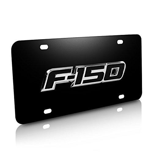 Ford F-150 Logo Black Steel License (Ford Logo License Plate Frame)