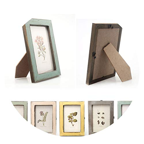 Vintage Photo Frame Home Decor Retro Wooden Wedding Couple Recommendation Ornament,Wood Color,Other