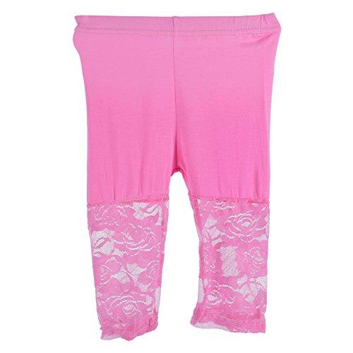 Girls Pink Capri Pants - 8