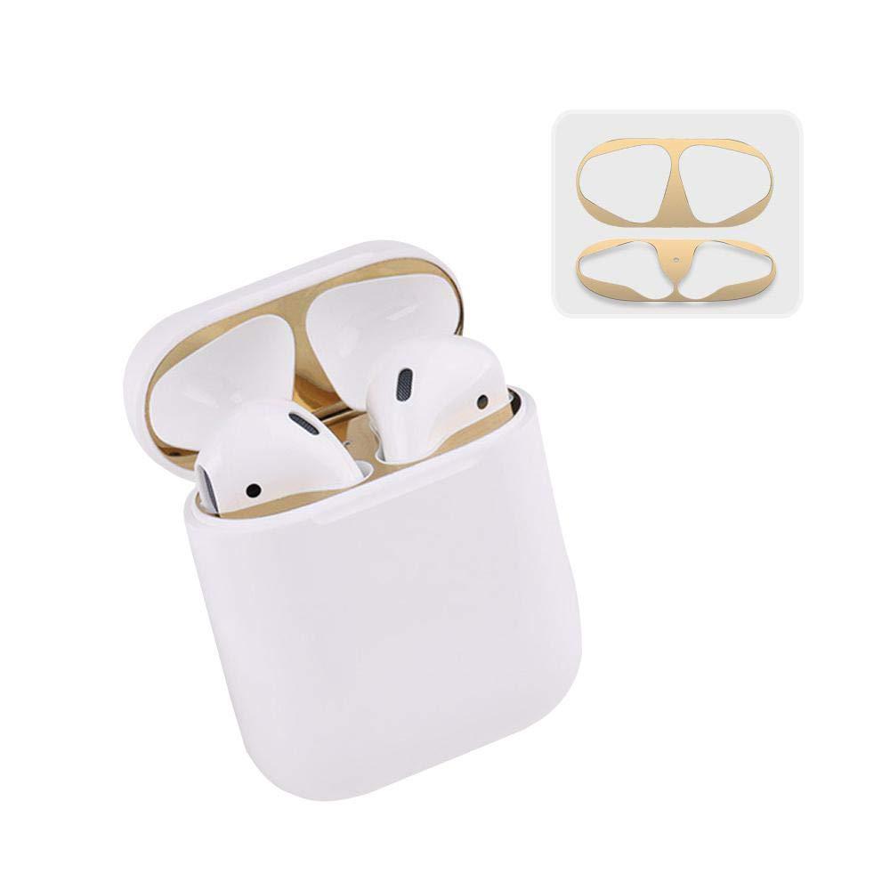 MOGOI AirPods用ダストガード 贅沢な外観 18金 ゴールドメッキ防塵フィルム AirPodsを鉄/金属削りから保護 取り付け簡単 1セット ゴールド 6493683126176  ゴールド B07Q2BTNLZ