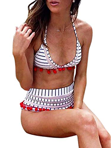 46e334cf522 Jual Halter Tie Back High Waist Triangle Bikini Set