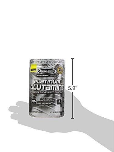 MuscleTech Glutamine Powder, 100% Ultra Pure L Glutamine for Muscle Endurance & Recovery, 60 Day Supply, 10.65 oz (302g)