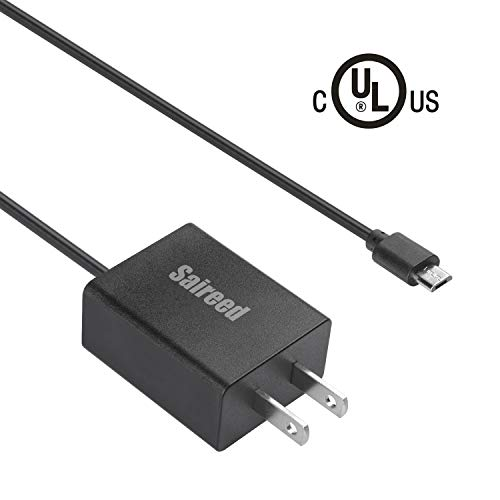 UL AC Charger for Amazon Kindle Tablet Fire 10 7 8 6 9.7 inch, Fire HD 8 10,Kindle Kids Edition Tablets, Kindle Paperwhite Oasis E-Reader Reader,Echo Dot 2nd Generation,5ft Charging Cable Power Cord