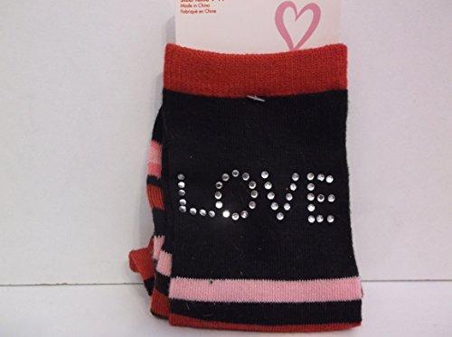 Planet Sox *Love Rhinestone* Stripe Socks
