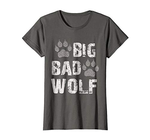 Womens Big Bad Wolf Paw Print Halloween Costume T-Shirt Medium Asphalt
