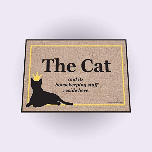 High Cotton Cat Housekeeping Staff New Doormat