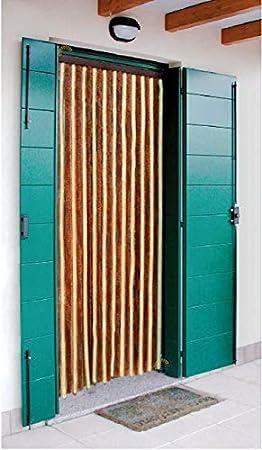 Arisol Cortina de chenilla para puerta de caravana 56/200 marrón beige camping casa