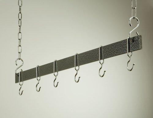 "36"" Hanging Bar: Hammered Steel/Chrome"