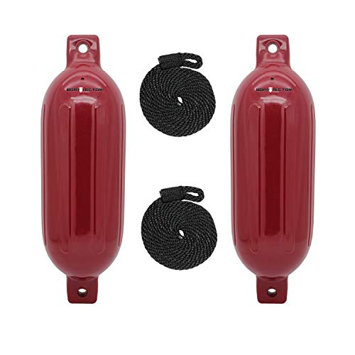 (Extreme Max Standard 3006.7619 BoatTector Inflatable Fender Value 2-Pack-8.5